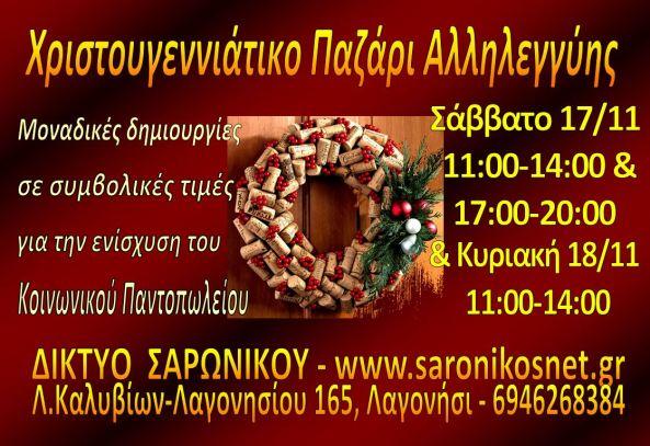 ΧΡΙΣΤΟΥΓΕΝΝΙΑΤΙΚΟ ΠΑΖΑΡΙ 2018