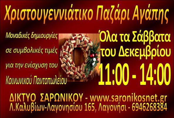 ΠΑΖΑΡΙ ΧΡΙΣΤ 2019